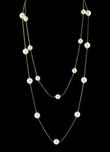 ネックレス 模様真珠 レディース ロングネックレス