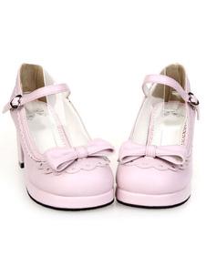 Сладкий пони пятки Лолита обувь лук декор лодыжки ремень пряжка