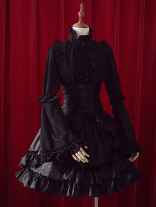 Fantástico em camadas babados algodão Lolita saias