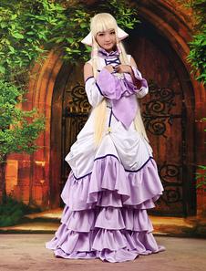 Chobits Chii Halloween Cosplay Disfraz Morado Dulce Vestido Lolita Halloween