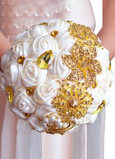 الزفاف باقة الزفاف الراين مطرز أشرطة اليد تعادل الحرير الزهور باقة