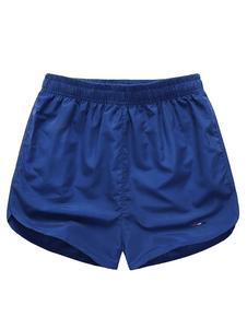 Swim Shorts real azul elástico cintura verano playa natación troncos hombres de