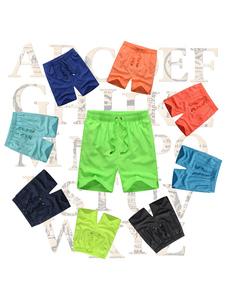 Traje de baño para hombre Bañador de playa de verano blanco con pantalones cortos de cintura con cordón de color impreso de camuflaje