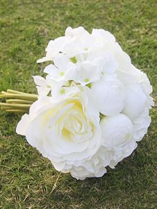 Flores de casamento de flor de seda Redondo Acessórios não inclusos. rosa claras