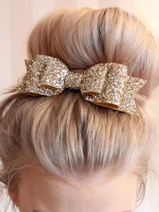 Волосы для волос Sequin Hair Bowknot для женщин