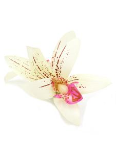 Tiara no cabelo de flor de seda acessório alfinete para cabelo rosa clara Não personalizado