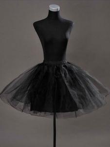 Короткие Свадебные Петтикот тюль Черный бескостная вспышки для новобрачных юбка