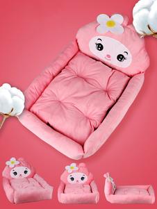 الوردي الحيوانات الأليفة ماتس الفانيلا ساحة جميلة لينة القط الكلب السرير هالوين