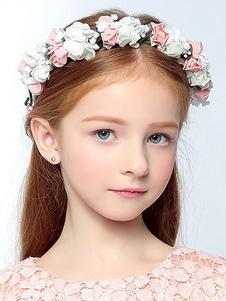 Tiara no cabelo de flor de seda acessório fita para a cabeça Não personalizado