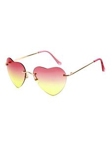 Óculos feminina para informal Amável em forma de coração AC Óculos de sol Sem Ara