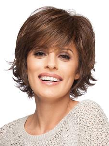 peluca de pelo humano 2020 peluca corta esponjoss onduladabouncy de mujer