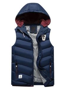 Jaqueta & casaco de neve de algodão Grossa Ajuste Slim com fecho Com Capuz térmica de poliéster
