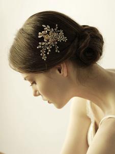Tiara no cabelo para adultos acessórios para a cabeça acessórios dourada Não personalizado