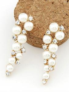 Coleira De Casamento Pérolas Beaded Vintage Bridal Gold Jewelry Set