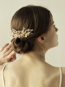 Tiara no cabelo de metal acessórios para a cabeça acessórios dourada Não personalizado