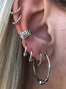 Ear Cuff Jewelry Estilo Étnico Feminino Embossed Vintage Hoop Earrings
