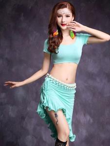 ベリーダンス衣装 大人用 スカート&トップス 無地 女性用 シック&モダン アシンメトリー モダール