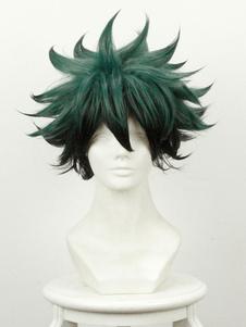 Carnevale Parrucca cosplay verde anime Giapponese parrucca resistente al Calore in Fibra