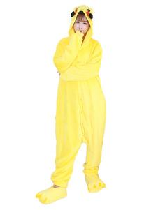 Disfraz Carnaval Disfraz de Kigurumi Adulto Personaje de Cartoon para adultos amarillo Carnaval