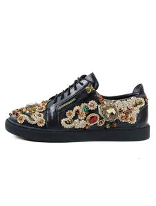 Sapatos Tênis e Desporto para homem com diamante de limitação chique & modernos Sapatos com desenho artístico dedo do pé redondo pretos