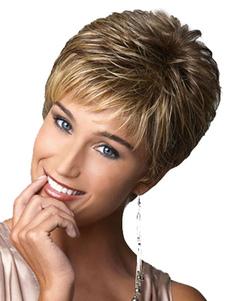 Коричневые короткие парики Женские вьющиеся слоистые пикси и бойки Синтетические парики