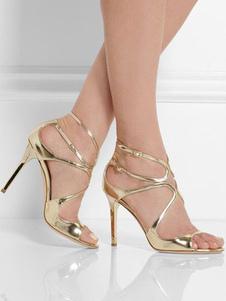 Sandálias Verão Sandálias de salto stiletto Sola de Antiderrapante Borracha dedo do pé aberto