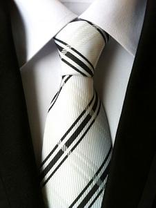 Ecru White Tie Plaid для галстуков для мужчин