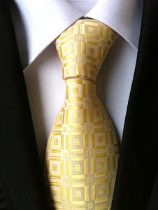 Cravatta abito formale quadrettata ora di poliestere