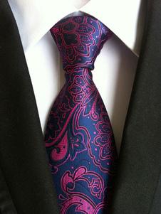 Deep Blue Ties Жаккардовый полиэфирный галстук для мужчин