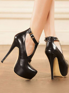Zapatos de plataforma de puntera de forma de almendra de tacón de stiletto estilo moderno de PU Zapatos de tacón alto para mujer para uso en club