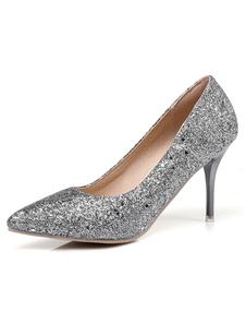 Scarpe pompe da sera elegante & lussuose 8cm tacco a fino a punta festa donna