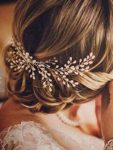 Свадебные аксессуары для волос Ivory Pearls Сплав Свадебные головные уборы