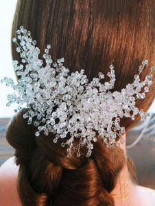Tiara no cabelo para adultos acessórios para a cabeça acessórios transparente de cristal Não personalizado