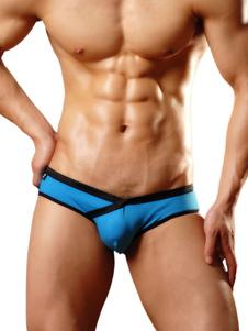 Deep Blue Panties Cotton Casual Two Tone Мужские боксерские трусы