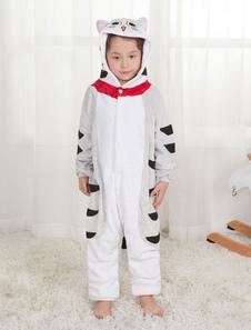 Disfraz Carnaval Niños Onesie Pijamas Chi's Sweet Home Unisex Gris claro Franela de invierno Mono Halloween Carnaval