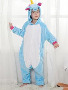 Юникорн Kigurumi Pajamas Blue Kids Onesie Unisex Halloween Costume
