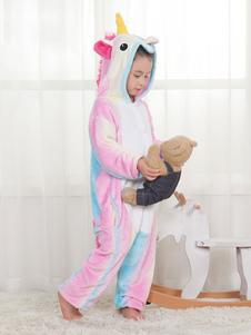 Радуга Единорог Кигуруми Пижама Онси Розовый комбинезон для детей