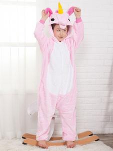 Onesie Unicorn Kigurumi Kids Unisex Pink Flannel Комбинезон для Хэллоуина