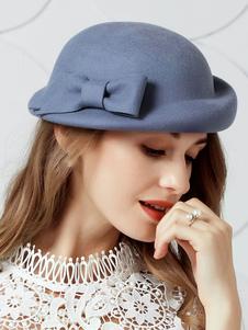 O chapéu das lãs de lã do vintage encaixa a luz azul Derby Bones