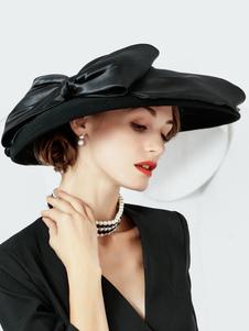 Disfraz Carnaval Vintage Floppy Hat Mujeres Negro Lana Retro Sombreros Carnaval