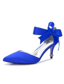 الشمبانيا وصيفه الشرف أحذية أشار تو بريزم كعب الأقواس الراين أحذية الزفاف