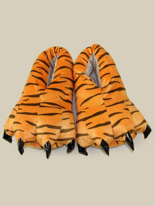 نمر Kigurumi غطاء الحذاء الشتاء الفانيلا أحذية للجنسين للأطفال هالوين