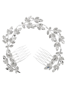Copricapo argento donna promessa di matrimonio accessori accessori per la testa