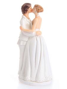 كعكة الزفاف القبعات العالية الأبيض الزفاف تمثال