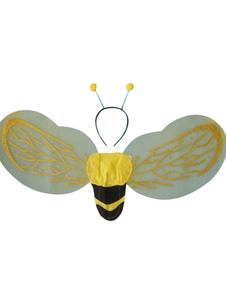 Asas unisex amarelas da abelha com Headpieces Acessórios do Dia das Bruxas