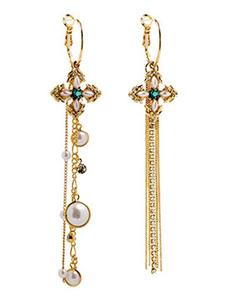 Brincos de moda de metal para mulher chique & modernos em estilo assimétrico Furado rincos de pingente com franja dourados