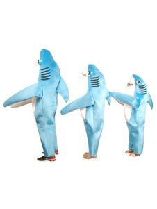 Disfraz de niños Carnaval Halloween Shark Disfraz 2020 Azul Terciopelo Monos Para Niños Halloween Disfraz Carnaval