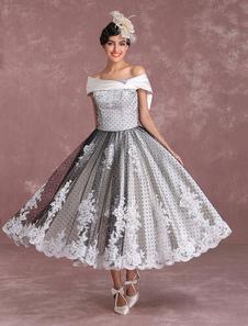 Свадебное платье с бриллиантами на спине с длинным рукавом Milanoo
