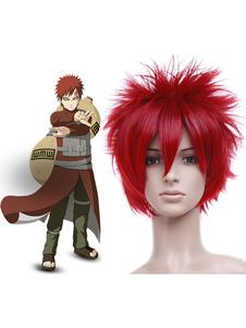 Carnevale Parrucche rosse da 35 cm per cosplay di Naruto Carnevale