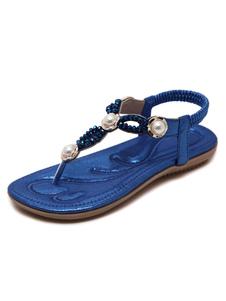 Sandali a punta stretta aperto casuale Paitti 2.5cm di PU Suola di Gomma Estate donna
